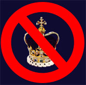 no more kings- in England or Canberra