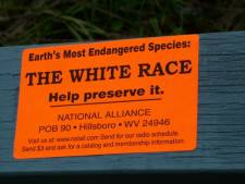 race-hate sticker placed at Cronulla Beach, Australia Day 2006